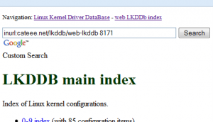 LKDDb search string example